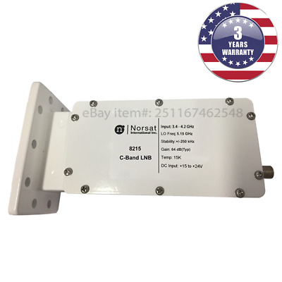 New Norsat 8215 C-Band DRO LNB 3-4 - 4-2 GHz ±250 kHz Stability F Type 75 Ohm
