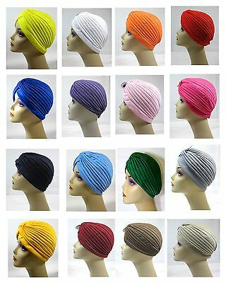 Choose Color Women  Turban Chemo Cancer Hat Headwrap-One  Size-HT2932