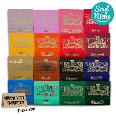 The Original Incense Matches - Scented Matches - Choose From 16 Fragrances