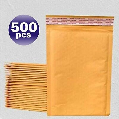 Yens® 500 000 Kraft Bubble Padded Envelopes Mailers 4 X 8