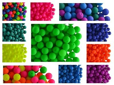 CHOOSE COLOR 50pcs 6mm NEON Round Beads UV-Active Czech Pressed Glass