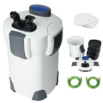 Aquarium 3-Stage External Canister Filter 265 GPH for FreshSalt Water 75 Gal