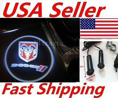2 X LED Car door Led Welcome laser projector Logo Ghost Shadow Light For Dodge