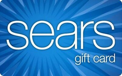 Sears Gift Card - 25 50 or 100 - Email delivery