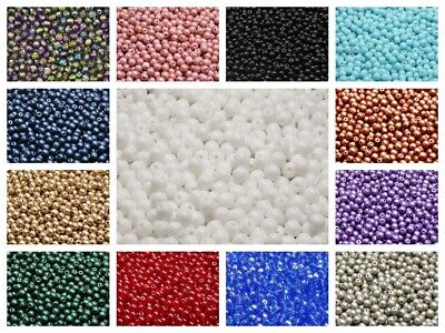 CHOOSE COLOR 100pcs 4mm Round Beads Czech Pressed Glass