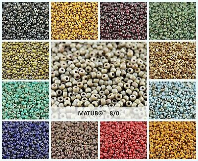 CHOOSE COLOR 10g 80 MATUBO Seed Beads Czech Glass