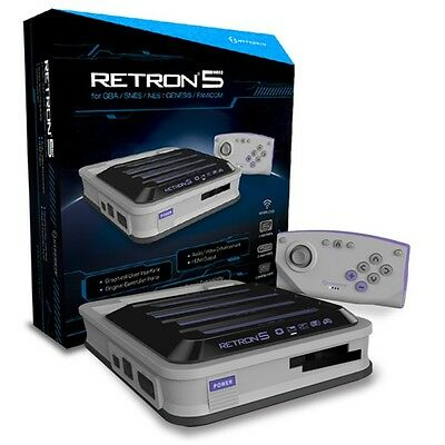 Hyperkin RetroN 5 Retro Video Gaming System Console - Gray - Newest Edition