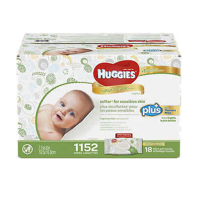 Huggies Natural Care Plus Baby Wipes 1152 count Fragrance - Alcohol NEW SEALED