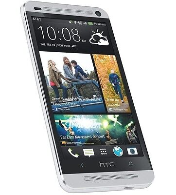 4-7 NEW HTC One M7 32GB Unlocked GSM 3G Android Mobile Phone - Silver