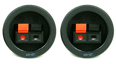 2 PACK SPEAKER BOX  PUSH SPRING TERMINAL CUP CONNECTOR SUBWOOFER - SHIPS TODAY