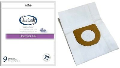 Hoover Type Y Vacuum Bags Micro Filtration - 9 Pk - Pet Odor Absorbing -