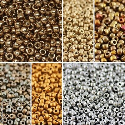 CHOOSE COLOR 10g 70 3-5mm MATUBO Seed Beads Czech Pressed Glass