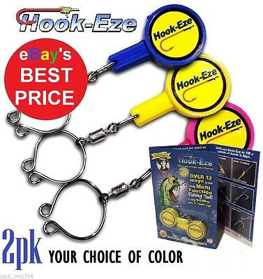 Hook-eze Fishing Line Tying Device- Choose from 1 to 4 packs  - 3 Color choices-