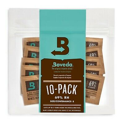 Boveda 69 RH 2-way Humidity Control 8 gram - 10 Pack