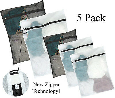 Kassa 5pc Mesh Laundry Bag Large - Small Wash Bags for Bra Delicates Lingerie