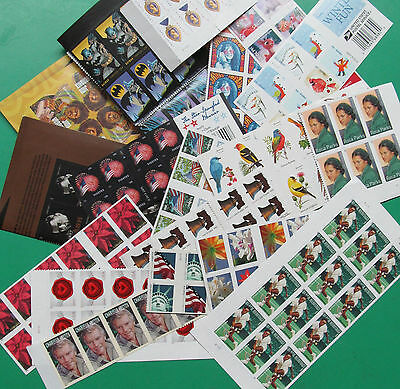 120 Assorted Mixed Designs Partial Panes - Pieces US PS FOREVER STAMPS FV 58-80