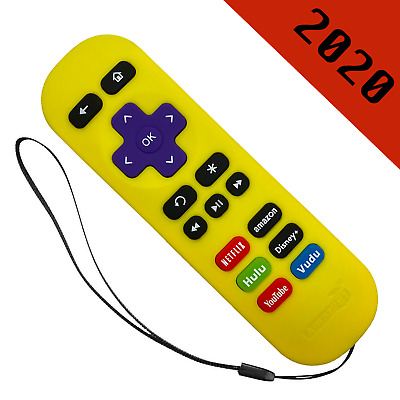 Replacement Remote for ROKU 124 Express-Premiere-Ultra Yellow-6 Shortcut