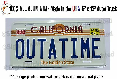 Back to the Future  Delorean  OUTATIME EMBOSSED Prop Replica License Plate