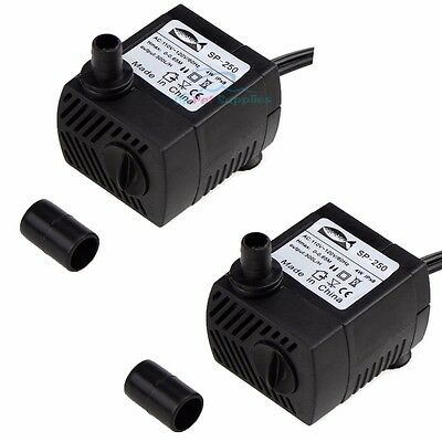 2X 80GPH Submersible Water Pump Aquarium Fish Tank Powerhead Fountain Hydroponic