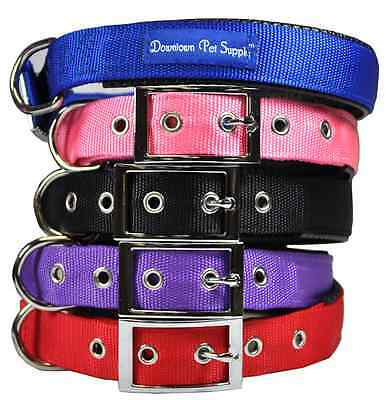 Deluxe Adjustable Thick Comfort Padded Dog Collar Small Medium and Large