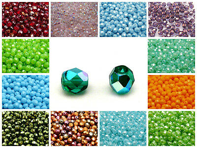 CHOOSE COLOR 50pcs 6mm Fire-Polished Round Beads Czech Glass