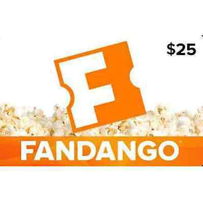 25 Fandango Gift Card - Fast Email delivery