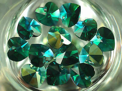 CHOOSE COLOR 2pcs 10-3x10mm Swarovski 6202 Crystal Heart Pendants