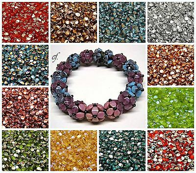 CHOOSE COLOR 50pcs 5x3-5mm Pinch Beads Czech Pressed Glass