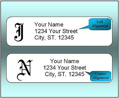 800 Personalized Return Address Labels-  12 x 1-75 Inch Monogrammed Labels-