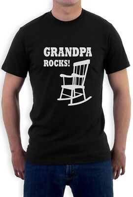 Grandpa Rocks - Fathers Day Gift Idea for Papa Funny T-Shirt Grandfather