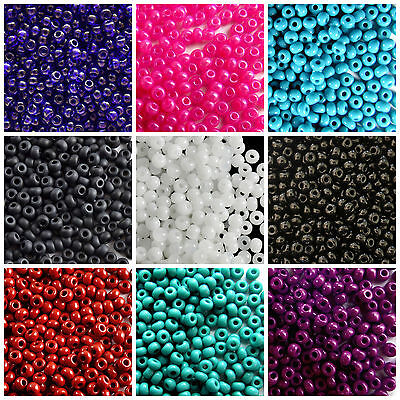 CHOOSE COLOR 20g 70 3-5mm Seed Beads Preciosa Ornela Czech Glass