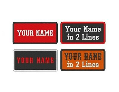 Custom Embroidered Name Tag Sew on Patch Motorcycle Biker MC Badge 4 X 2 A