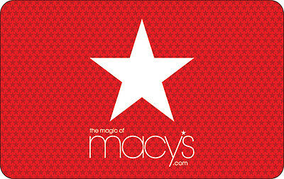 Macys Gift Card - 25 50 100 or 200 - Email delivery