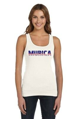 Murica Fourth of July USA American Flag Women Tank Top Gift Idea