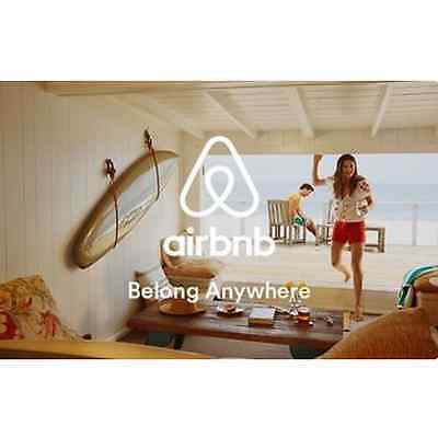 Airbnb Gift Card  50 100 or 200 - Email delivery