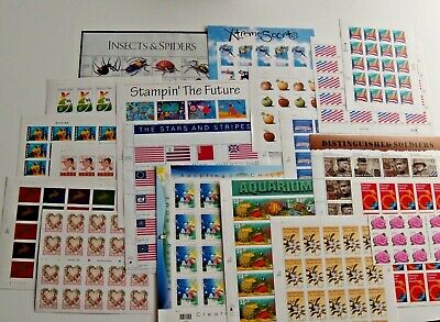 New 100 5 Sheets x 20 Assorted of Mixed Designs of 33 ¢ US PS Postage Stamps