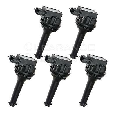 Set of 5 Ignition Coils for Volvo C70 S60 S70 S80 V60 V70 XC70 L5 UF341 C1258