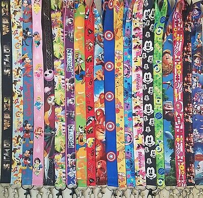 PICK ONE DISNEY WORLD LANYARD FOR PIN TRADING MICKEY MINNIE NEMO MARVEL B3G1