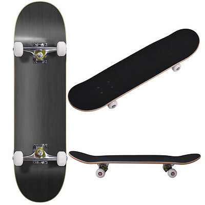 Blank Complete Skateboard Stained BLACK 7-75 Skateboards Ready to ride New