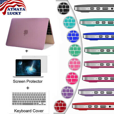 Matte Hard Case For Macbook Air Pro Retina 12 13  Laptop Case Keyboard Cover-LCD