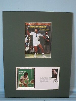 Tennis Great Arthur Ashe wins at Wimbledon - First Day Cover of his own stamp