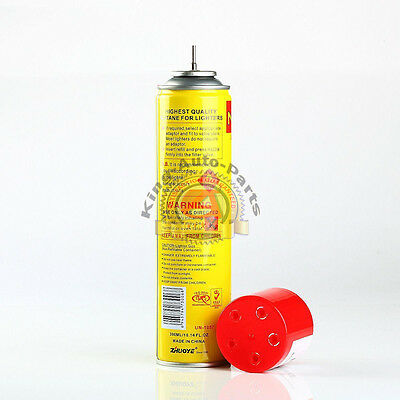 NEW - NEON ULTRA REFINED BUTANE GAS - FILTERED LIGHTER REFILL FUEL w 5 Adapters