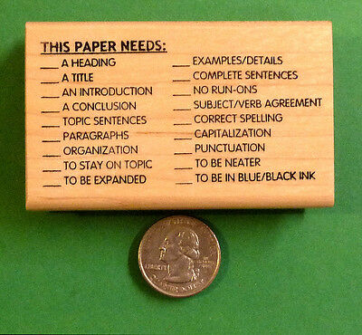 This Paper Needs - Teachers WritingComposition Rubber Stamp