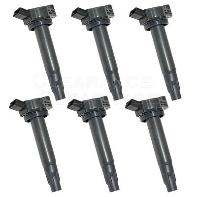 New Set of 6 Ignition Coil for 04-10 V6 3-3L ES330 RX330 Camry Solara Highlander