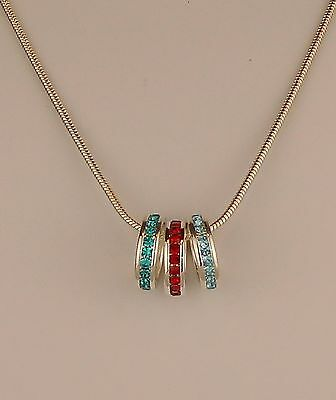 Infinity Mothers Day Crystal Birthstone 18 Silver Necklace Jewelry Ring SA140S
