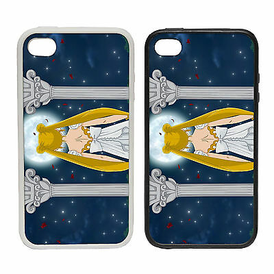 ANIME SPACE PILLARS RUBBER AND PLASTIC PHONE COVER CASE MOON BLONDE GIRL