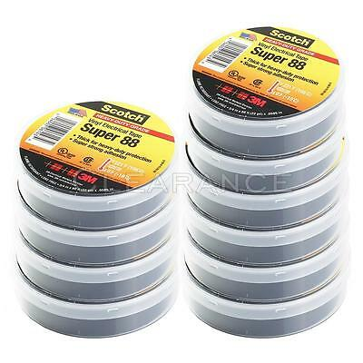 10 Rolls 3M Scotch Vinyl Electrical Tape Super-88 34 in x 66 ft 22 yd