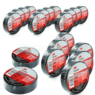 20 pcs 3M 1700 TEMFLEX 34 X 60 BLACK ELECTRICAL TAPE FAST FREE SHIPPING