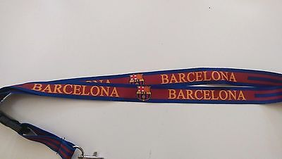 FC BARCELONA LANYARD KEY CHAIN RED - BLUE SOCCER FUTBOL