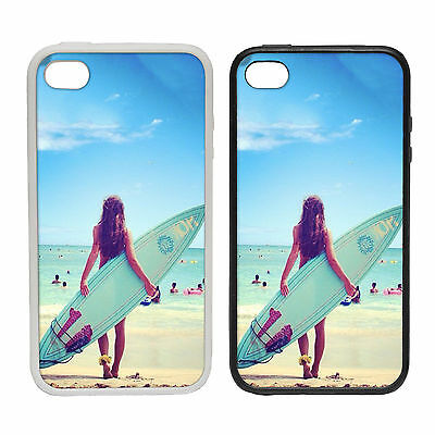SUMMER SURFER BEACH RUBBER AND PLASTIC PHONE COVER CASE